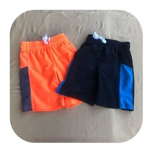 2 Carter's athletic shorts boys 4T